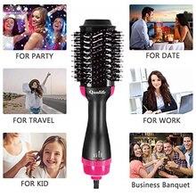 2 em 1 secador de cabelo escova elétrica quente pente iônico escova de cabelo golpe drayer volumizer curler alisador de cabelo seco escova
