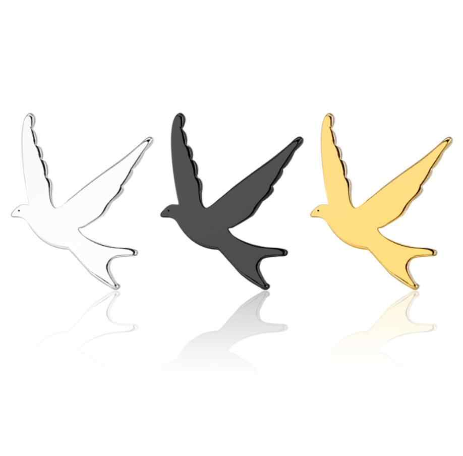 Hfarich Fashion Stainless Steel Birds Stud Earrings for Women Vintage Cute Gold Sparrow Earings Christmas Gift Brincos