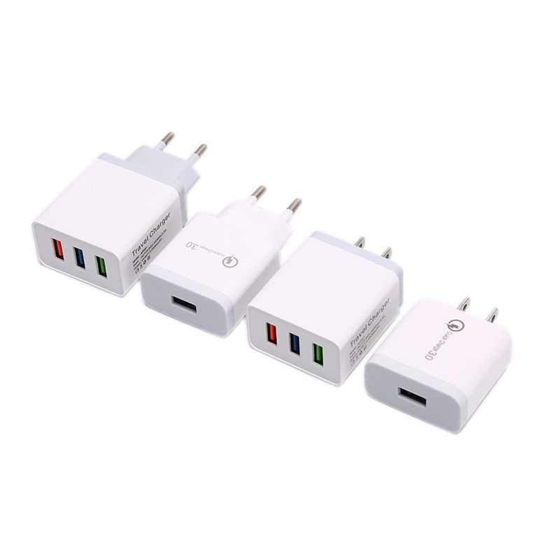 العالمي سريع شاحن 18 W USB سريعة تهمة 3.0 5V 3A عالية السريع USB الحائط مهايئ شاحن الولايات المتحدة/الاتحاد الأوروبي الهاتف المحمول