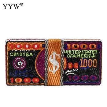 Women'S Handbags 2020 Purses And Handbags Crystals Money Evening Clutch Bags Diamond Wedding Dinner Luxury Designer High Quality