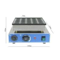 Commercial CE 110V/220V NO stick 25 holes dutch poffertjes grill mini pancake machine electric pancake maker