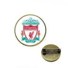 Логотип футбольного клуба, броши, логотип команды, стеклянный кабошон, логотип команды, броши на булавке для футбольных фанатов, ювелирные изделия, эмалированные булавки, булавки для хиджаба