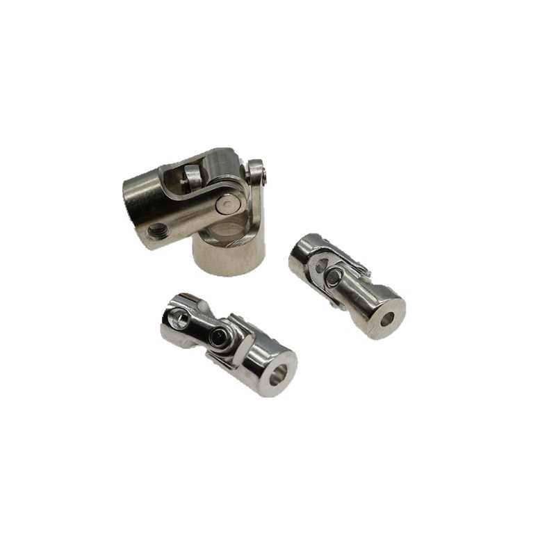 Ochoos 2xOchoos 3mm to 4mm ID RC Model Toy Rotatable Motor Shaft Universal Joint Connector Metal Coupling w//Hex Wrench Screws