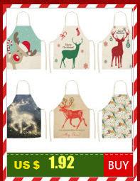 Santa Deer Pattern Christmas Cushion Cover Decorative Throw Pillow 45*45cm Polyester Pillowcase Xmas New Year Home Decor 40543 25