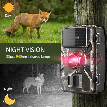 Trail Camera 12MP 1080P Wildlife Game Hunting Trail Camera Motion Activated Security Camera IP66 Night Vision Scouting Camera 6