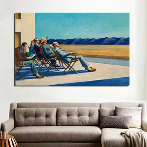 Cuadros de carteles de pintura al óleo de Arte de pared moderno decoración del hogar de la sala de estar de la impresión de la pintura al sol