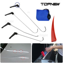 PAINTLESS DENT REMOVAL REPAIR TOOLS KITS 4PCS ROTATE RODS HAIL DAMAGE REMOVAL CAR DING DENT REPAIR ROD HOOK PDR PUMP WEDGE