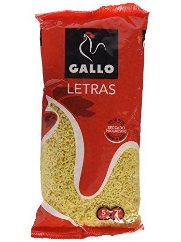 Pastas Gallo - Pasta Letras Paquete 250 G