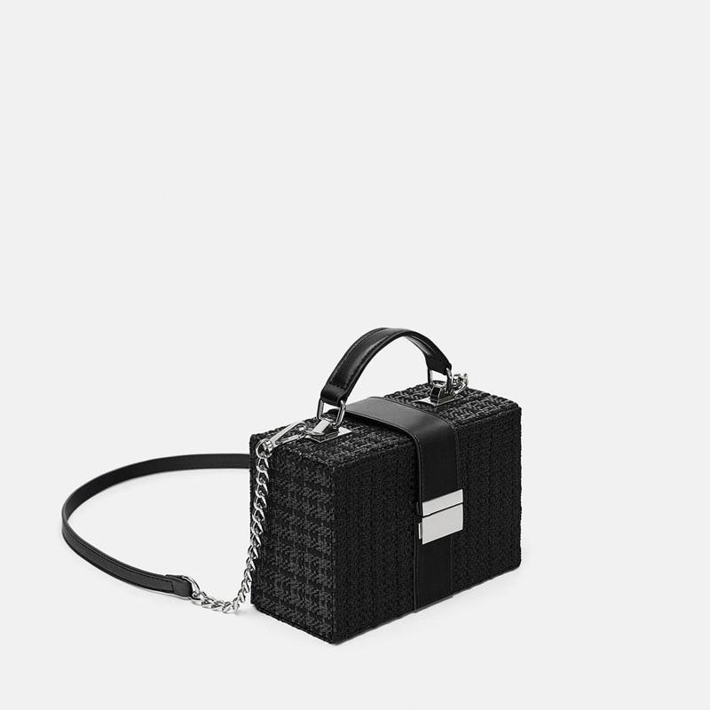 Fashion Chic Box Bag Messenger Bag Women Handbags Lady Black Bag New Square Crossbody Messenger Bags Clutch For Woman
