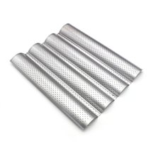 Bread-Baking-Tray for Baguette Bake-Mold Pan Mold-Pan Groove Wave Steel Food-Grade