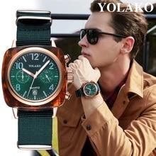 YOLAKO Watch Men Fashion Luxury Mens Watches Sport Watch Canvas Band Male Watch Clock Quartz Wrist Watches reloj hombre relogio