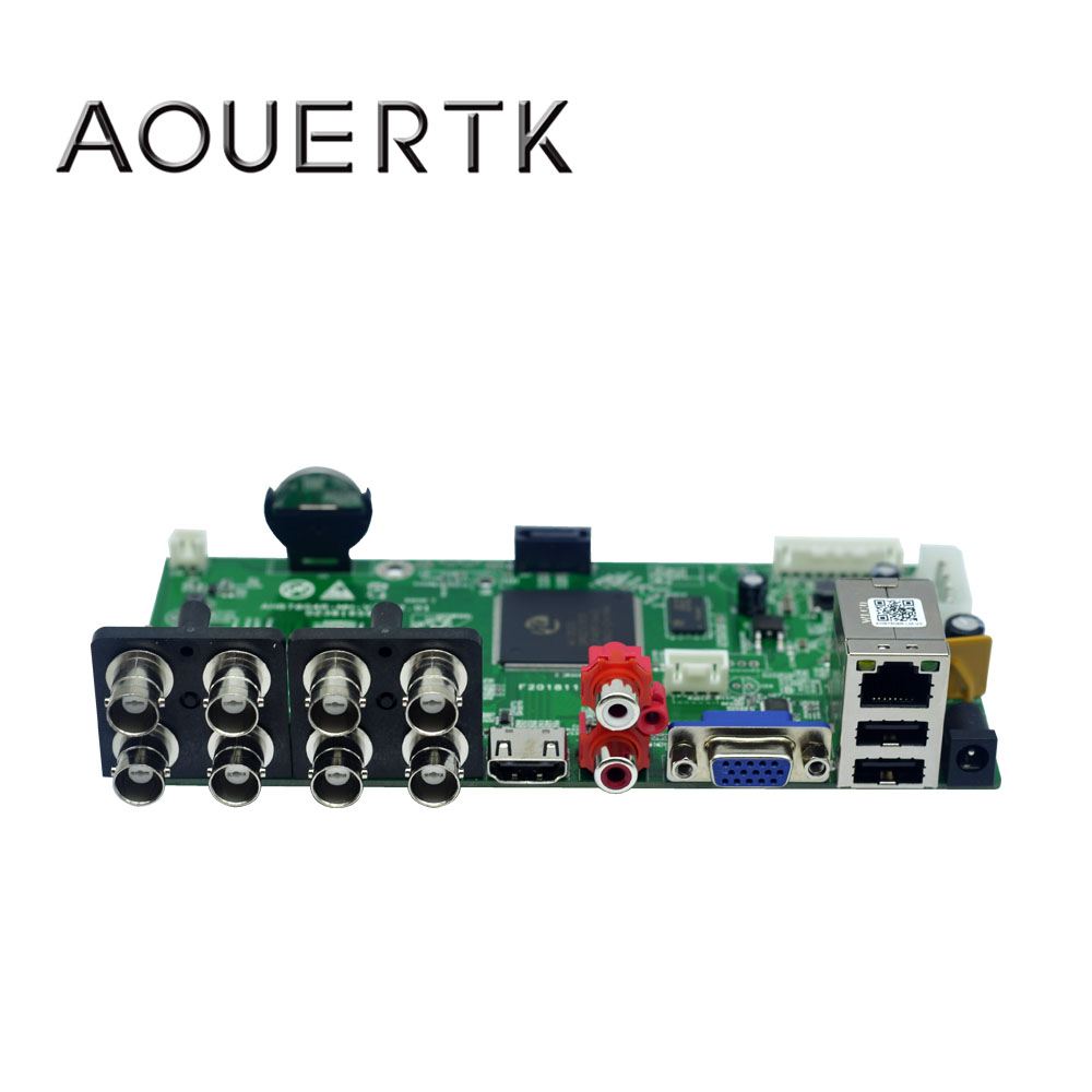 AOUERTK  8CH 5 In 1AHD CVI TVI CVBS 960P/1080P/5MP 1 SATA CCTV DVR Board Support Motion Detection And 4 Record Mode