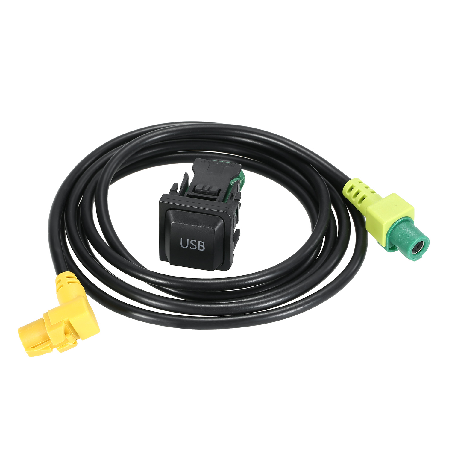 KKMOON 12V Car AUX <font><b>USB</b></font> Cable With Switch Replacement for <font><b>VW</b></font> <font><b>Golf</b></font> MK5 MK6 VI 5 6 Jetta CC Tiguan Passat B6 RCD510 RNS315 image