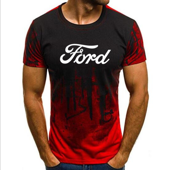 Men T Shirt Ford Motor Company Auto Round Neck Tee Shirt Cool T Shirts Tops  2019BD