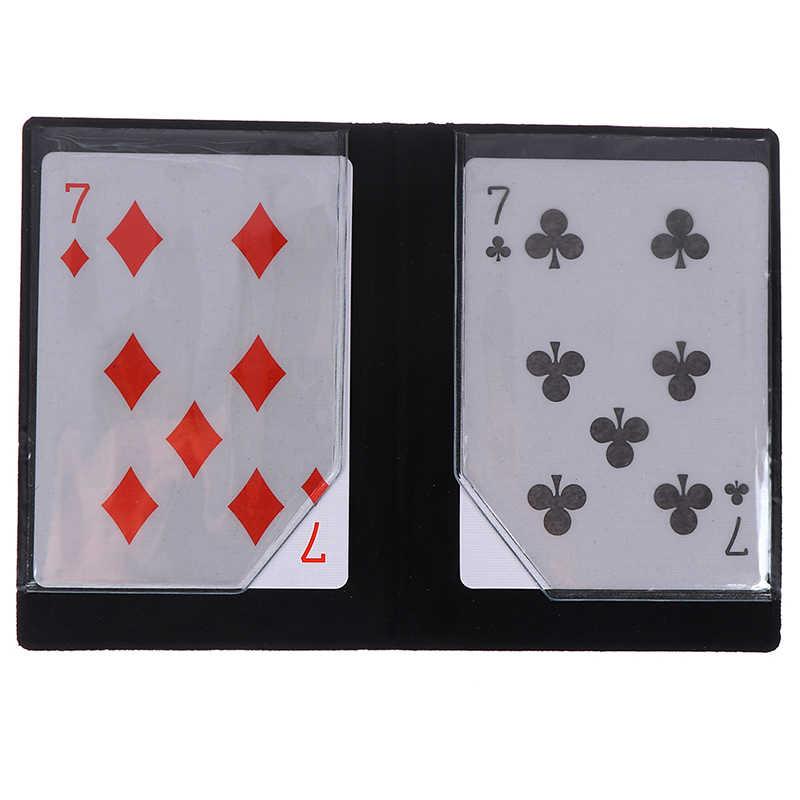 Portafoglio di Fusione Con Il Magnete Carta di Scena di Strada Close Up Magic Illusion Mentalismo Carta Del Raccoglitore Ottico Apparendo Trucchi di Magia