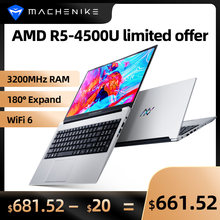 Machenike AMD Ryzen 5 4500U dizüstü WiFi 6 Ultrabook R5 4500U 8G 3200MHz 512G SSD 15.6 ''FHD dizüstü ofis öğrenci dizüstü