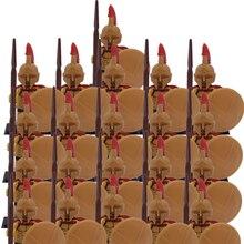 Новинка 21 шт./лот Белый Волк против средневековых рыцарей крестомер Римский командир группа солдат игрушки строительный блок