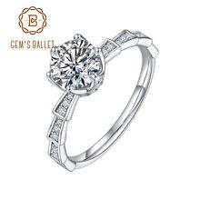 Женское Обручальное кольцо из серебра 925 пробы с муассанитом