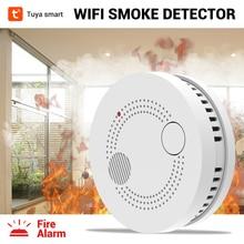 CPVan 5pcs/Lot Tuya WiFi Smoke Alarm Detector Wireless Sensor Detector Fire Protection Detector for Home Security Alarm System