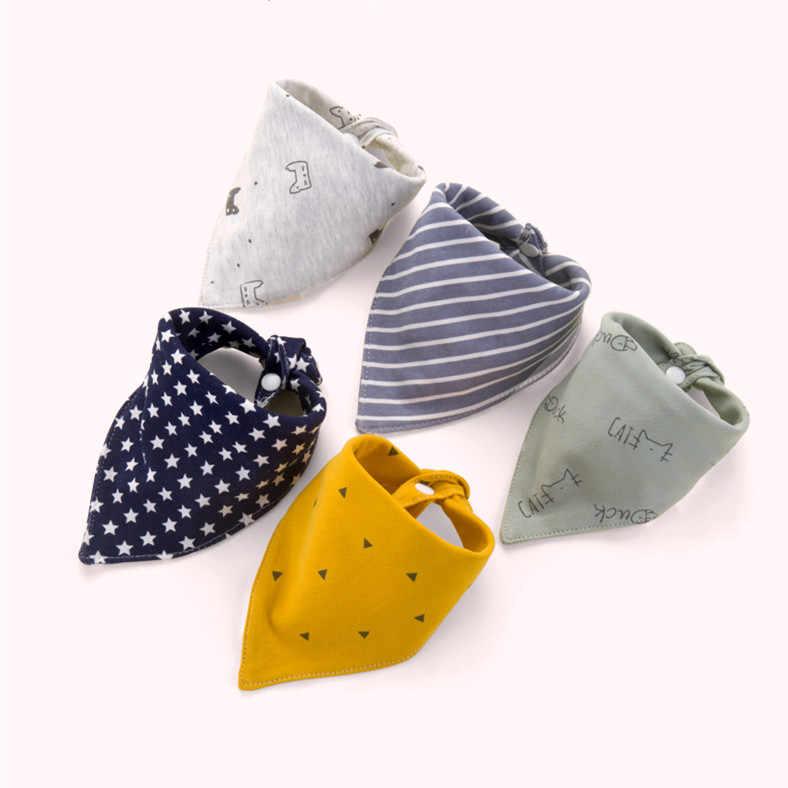 5pcs/3pcs/LOT Baby Bibs Bandana Bib Burp Cloth Print Animal Triangle Cotton Baby Scarf Meal Collar Burp Baby Accessories