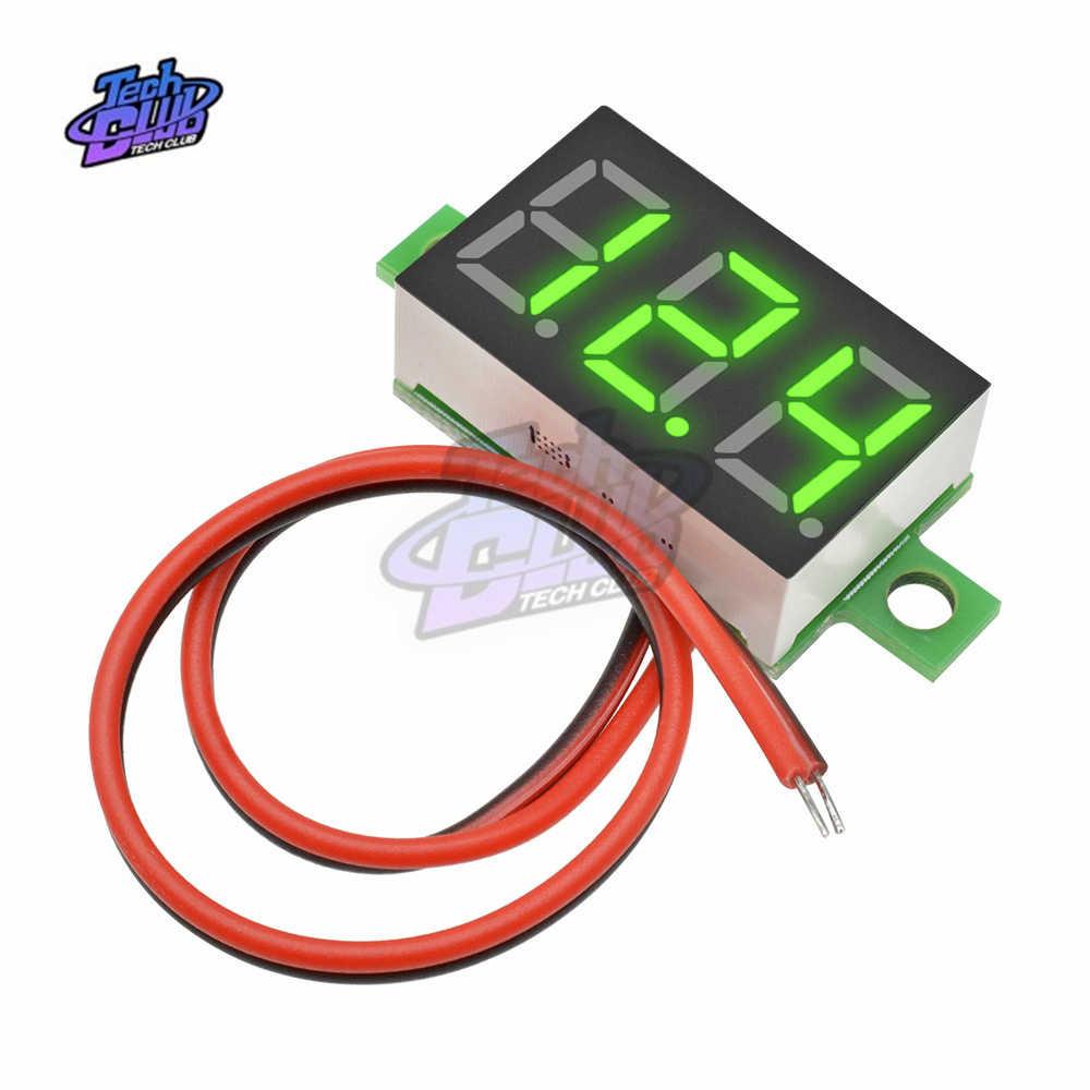 DC 0-100 V Mini woltomierz cyfrowy 10A Panel Amp Volt miernik napięcia prądu Tester detektor wyświetlacz LED Auto samochód czerwony niebieski zielony