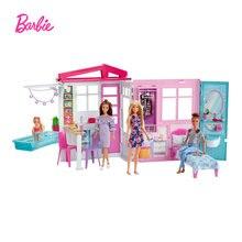 Домик для Барби Портативный 1 история playset кукольный домик