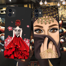 Luxury Woman Crown Hijab Face Muslim Islamic Gril Eyes Cover Phone Case for Iphone 11 Pro Max X 6S 7 8 Plus XR XS MAX SE 2020