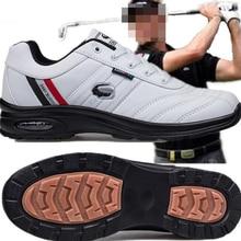 Мужские Гольф обувь; не скользящие износостойкие дышащие спортивные туфли