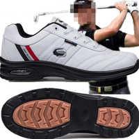 Novo 2019 masculino sapatos de golfe antiderrapante resistente ao desgaste respirável sapatos esportivos