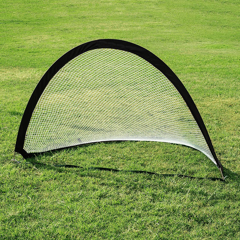 Sport Nets Portable Pop-Up Soccer Goals 4/' Set of 2 Red with Nylon Carrying Bag