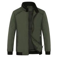 Spring Green Jacket Men Stand Collar Thin Casual Plus Size Boys Coat Autumn Windbreaker Male Autumn Fashion Coat Mens Streetwear