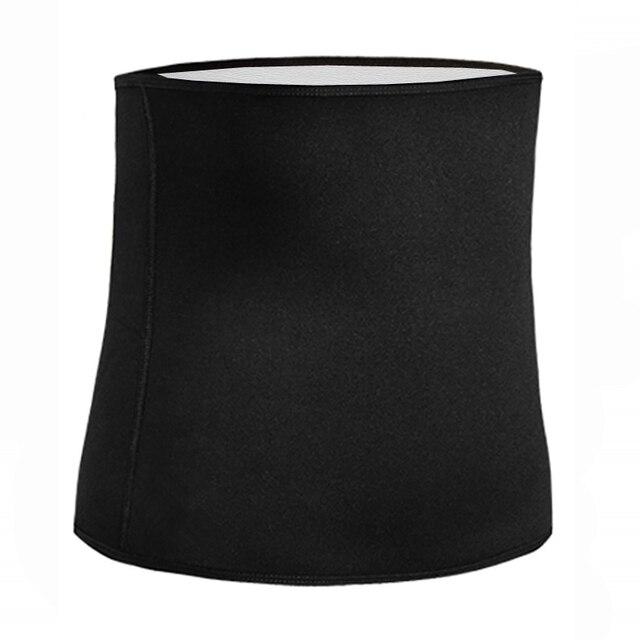 Newest Men Sweat Belt Body Shaper Waist Trainer Tummy Control Belt Sauna Slimming Strap Fitness Sweat Shapewear for Fat Burner 2