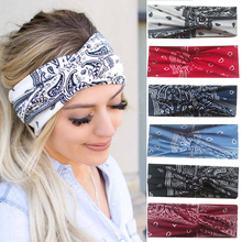 Women Headband Cross Top Knot Elastic Hair Bands Soft Girls Hairband Hair Accessories Twisted Knotted Headwrap Turban Bandage