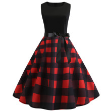 купить Sexy Halter Party Dress 2019 Retro Polka Dot Hepburn Vintage 50s 60s Pin Up Rockabilly Dresses Robe Plus Size Elegant Midi Dress по цене 752.92 рублей