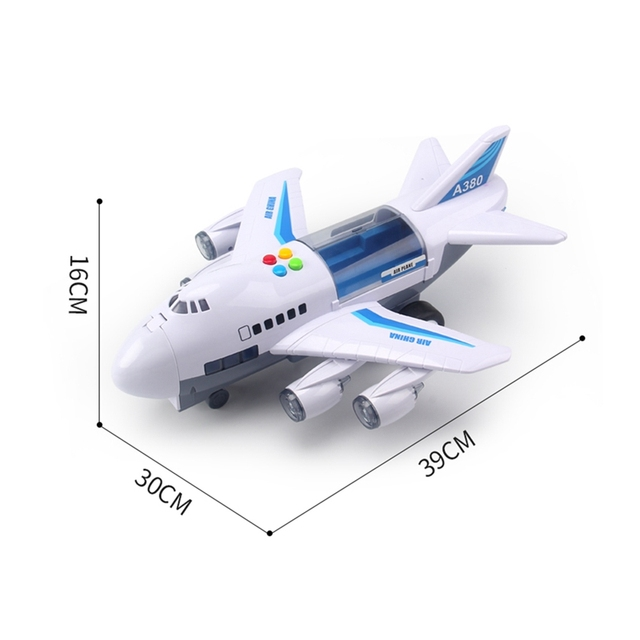 Music Story Simulation Track Inertia Children'S Toy Aircraft Large Size Passenger Plane Kids Airliner Toy Car 2