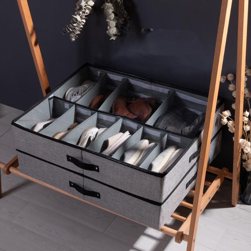 Nouveau chaussures rangement organisateur gain de place sous lit chaussure cintre vêtements garde-robe stockage