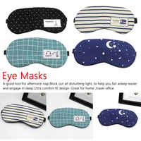 1pcs Cotton Soft Eye Aid Sleep Mask with Comfortable Ice Compress Gel Travel Rest Party Eye Shade Cover Blindfold Unisex