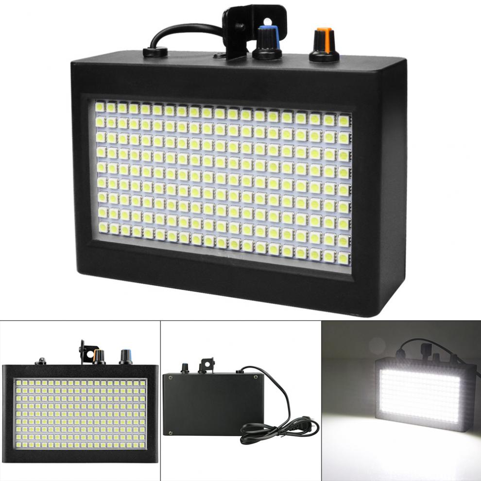 Strobe Lights Portable 180 LEDs 35W White Strobe Light With Remote Sound Control And Strobe Speed Adjustable Fit For Stage