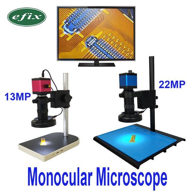 13MP HDMI VGA /22MP HD USB TF монокулярный микроскоп цифровая камера Объектив 56 светодиодная большая стойка для верстака ремонт телефона пайка