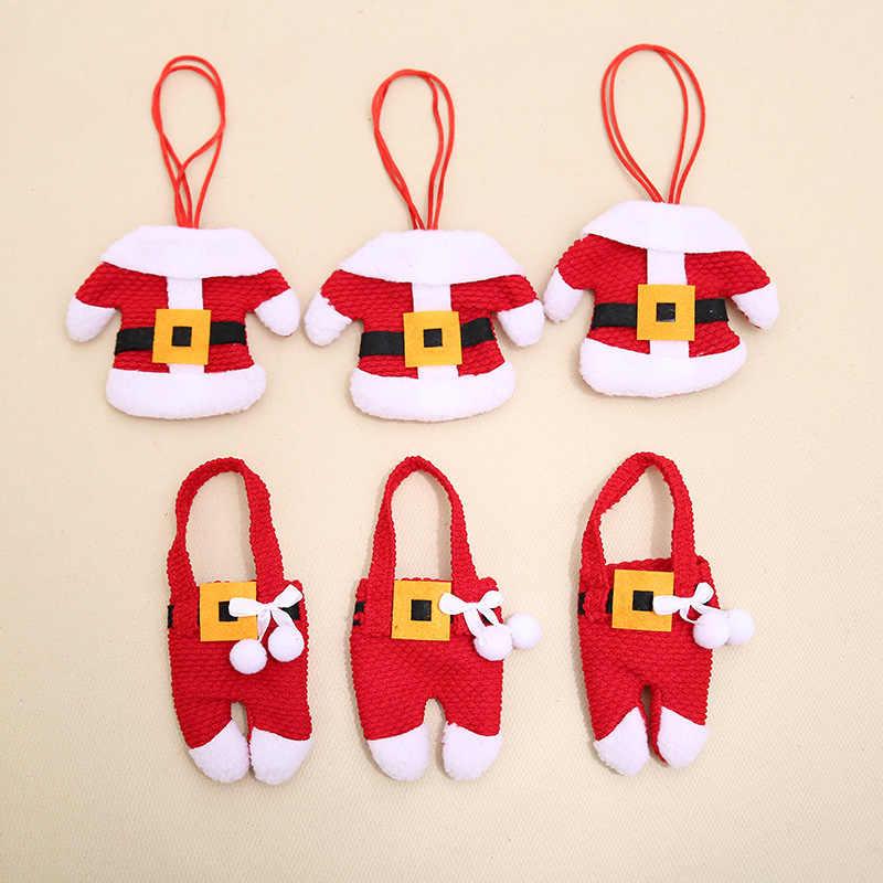 Новогодние 2020 рождественские кармашки для столовых приборов вилка держатель ножа сумка для посуды Ноэль рождественские украшения на стол для домашнего ужина декор, Рождественский подарок