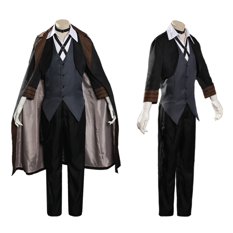Nakahara Chuya Uniform Costume Suit+wigs+hat Halloween