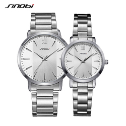Sinobi New Fashion Lover Quartz Watches Simple Dress Man Woman Watch Couple Wristwacthes Wedding gift Clcok Relojes Homble 2020