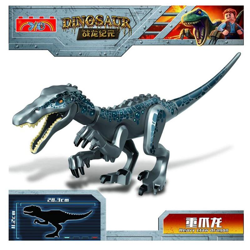 NEW Lepining Jurassic World Park Raptor Dinosaurs Spinosaurus Indoraptor Figures Building Blocks Bricks Toys For Children Gift