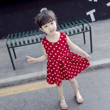 цена на 1-7Y Kids Girls Dresses Summer Children Birthday Clothes for Girl Princess White Dress 2 3 4 5 6 7 Years Toddler Cotton Clothing