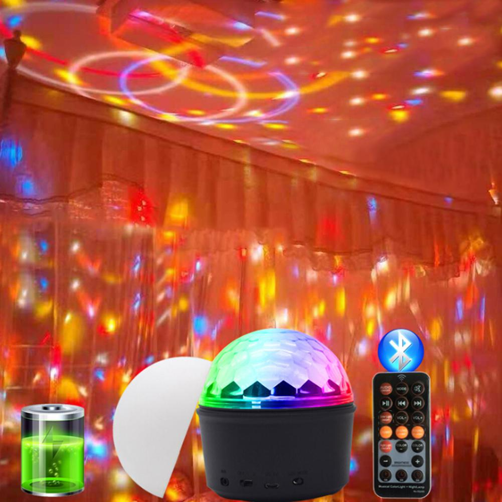 DishyKooker LED USB Charging 9 Colors Bluetooth Crystal Magic Ball Stage Light|LED Modules| |  - title=