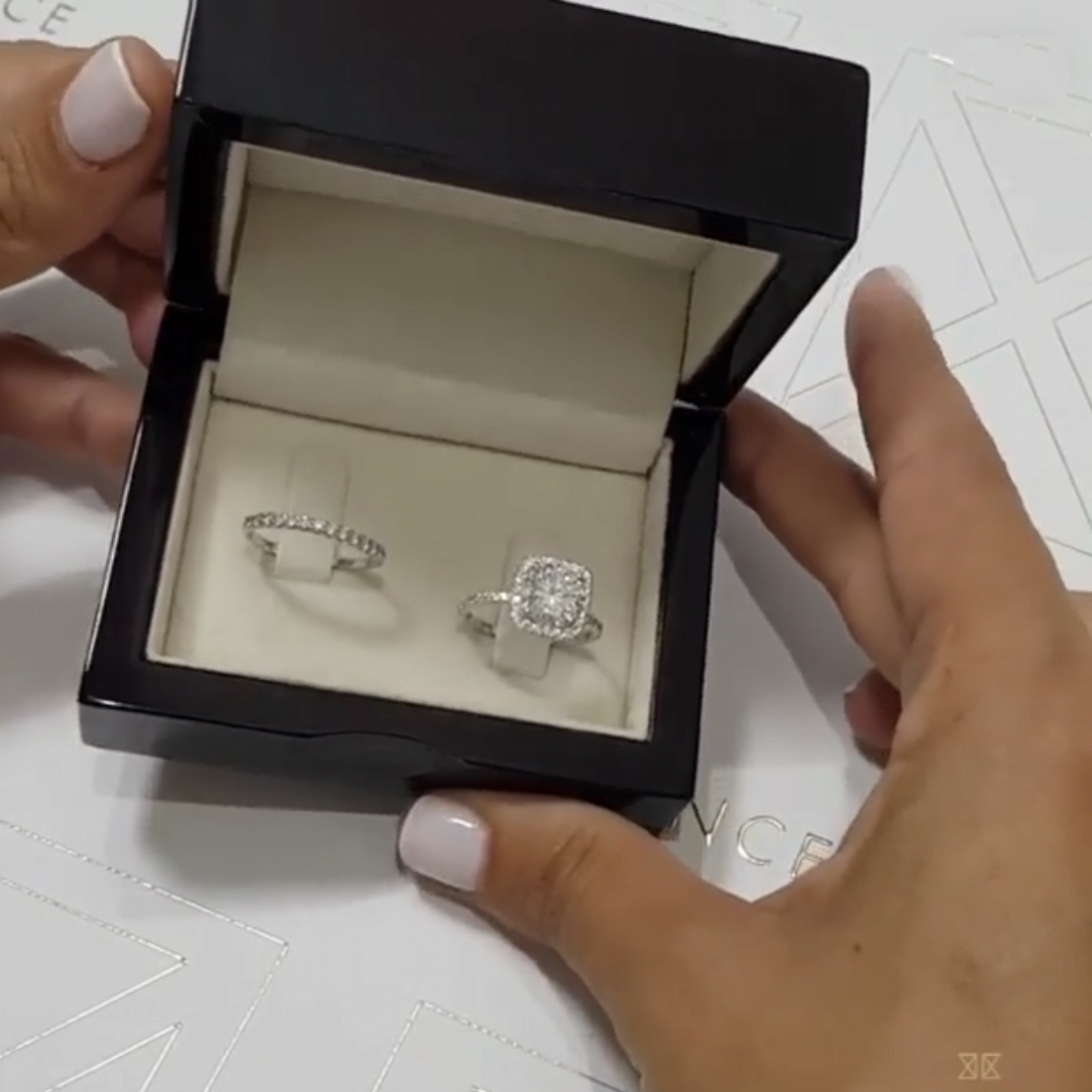 Luxury 925 Sterling Silver 2ct Created Moissanite Wedding Engagement Cocktail Diamond Rings set for Women Gemstone Fine Jewelry