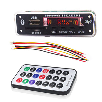 цена на MP3 Decoder Wireless Bluetooth 5V 12V Board MP3 Audio Player Module Support USB SD AUX FM Audio Radio For Car Accessories Kit