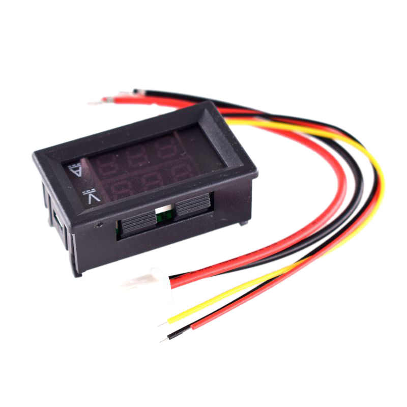 DC 0-100V 100A voltmètre numérique ampèremètre double affichage détecteur de tension compteur de courant panneau Amp Volt jauge 0.28 pouces 1 rouge rouge LE