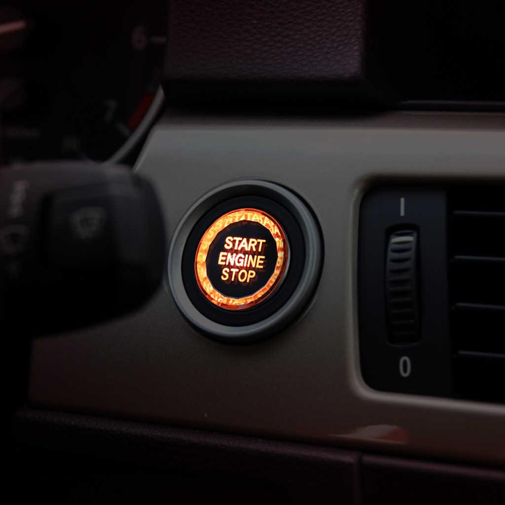 Bmw クリスタル E90 E91 E60 E89 E70 E71 Z4 X1 X5 X6 3 シリーズ 5 シリーズ車のダイヤモンドエンジンスタートストップボタンカバーキー