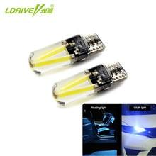 Ldrive canbus sem erro 12v 2.3w, led t10 silicone lâmpada 3000k 4300k 6000k amarelo dourado luz de cunha lateral t10, branco quente, vermelho, azul